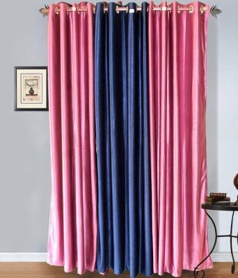 shivam concepts Polyester Multicolor Plain Eyelet Door Curtain