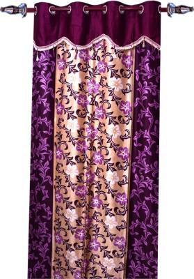 Jazz Polyester Multicolor Floral Eyelet Window & Door Curtain