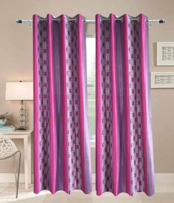 JF Polycotton Rani Geometric Eyelet Door Curtain