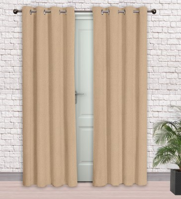 Story @ Home Jacquard Cream Printed Eyelet Door Curtain