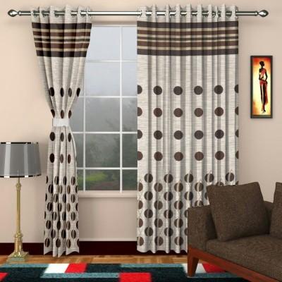 Skytex Polyester Grey Plain Curtain Long Door Curtain