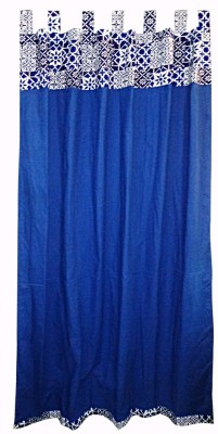 Adt Saral Cotton Multicolor Printed Tab Top Door Curtain
