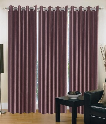 Hargunz Polycotton Brown Floral Eyelet Window Curtain