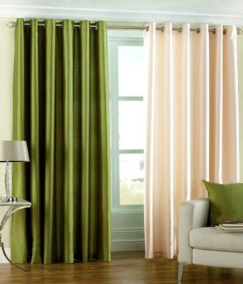 Angel Homes Polyester Multicolor Floral Eyelet Door Curtain