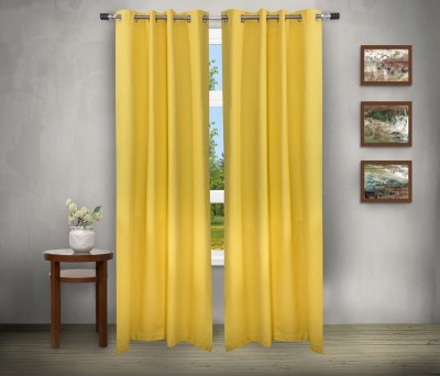 House This Cotton Yellow Abstract Eyelet Window Curtain