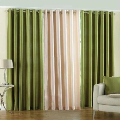 Daddu Enterprises Polyester Multicolor Plain Eyelet Door Curtain