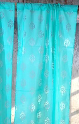 Ocean Homestore Polycotton Green Self Design Curtain Door Curtain