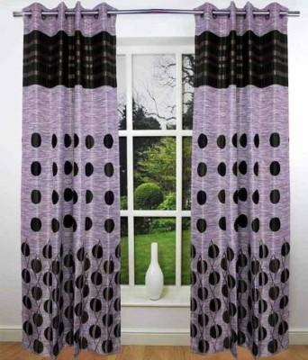 STC Jacquard Gray Self Design Eyelet Long Door Curtain