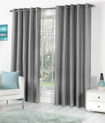 Madhav product Polyester Multicolour Solid Eyelet Door Curtain