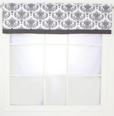 Bacati Cotton White, Black Printed Curtain Window Curtain