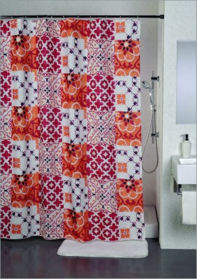 Freelance Polyester Multicolor Solid Eyelet Door Curtain