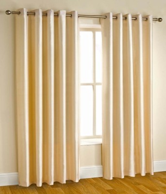 RS Quality Polyester White Plain Eyelet Window & Door Curtain