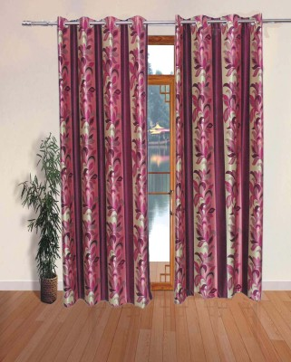 Fabbig Polyester Multicolor Printed Eyelet Door Curtain
