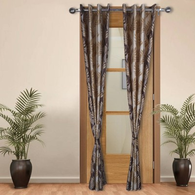 Shoppeholics Polyester Multicolor Self Design Eyelet Door Curtain