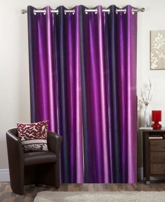 I-LivSmart Polyester Purple Plain Curtain Door Curtain