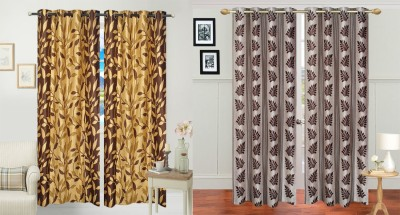 Jars Collections Polyester Multicolor Floral Eyelet Door Curtain