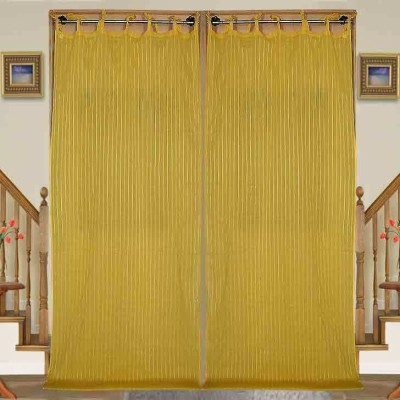 sriam Cotton Yellow Printed Curtain Window Curtain