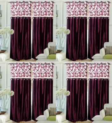 Decor Vatika Polyester Lavender Abstract Eyelet Door Curtain