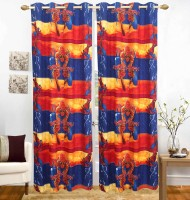 The Great Indian Shop Polycotton Multicolor Cartoon Curtain Door Curtain(215 cm in Height, Pack of 2)