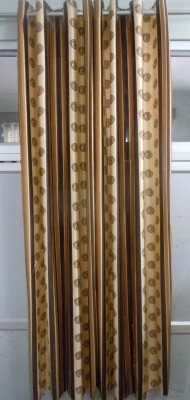 Jh Decore Polyester Brown Printed Curtain Door Curtain