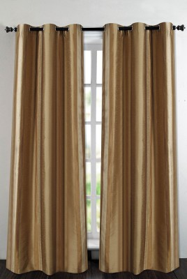 Deco Essential Polyester Beige Plain Eyelet Door Curtain