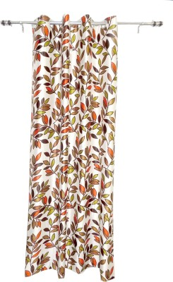 ALAGH FASHIONS Polyester Multicolor Floral Eyelet Door Curtain