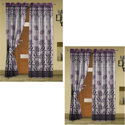 Story @ Home Jacquard Burgandy Abstract Eyelet Door Curtain