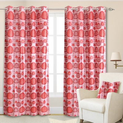 Maxx Home Polycotton Multicolor Abstract Eyelet Door Curtain