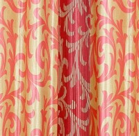 Cortina Polyester Maroon Abstract Eyelet Window Curtain(150 cm in Height, Single Curtain)
