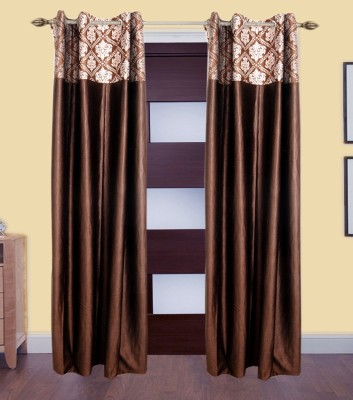 Shop Since Polyester Multicolor Self Design Eyelet Door Curtain