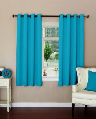 Lushomes Polyester Tac Plain Eyelet Window Curtain