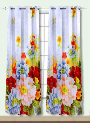 Idrape Polyester Multicolor Printed Eyelet Door Curtain