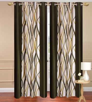 Daddyhomes Polyester Green Solid Curtain Door Curtain