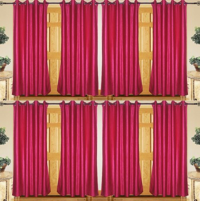 IndianOnlineMall Polyester Multicolor Plain Curtain Door Curtain