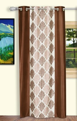 Dreaming Cotton Polyester Brown Motif Curtain Door Curtain