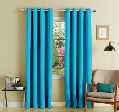 Lushomes Polyester Tac Plain Eyelet Long Door Curtain