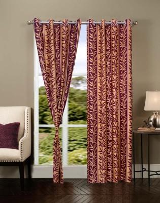 Dreamshomes Polyester Multicolor Solid Eyelet Door Curtain