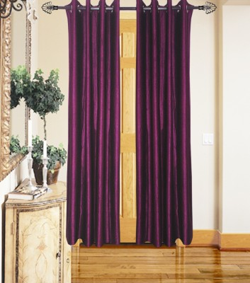 JMT Polyester Multicolor Plain Eyelet Door Curtain