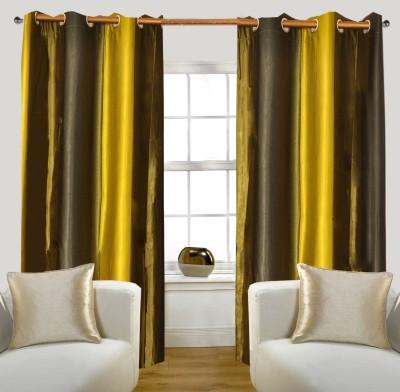 Glamora Interiors Polyester Multicolor Striped Eyelet Window & Door Curtain