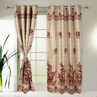 I Catch Cotton BeigeAndWhite_04_3 Floral Eyelet Door Curtain