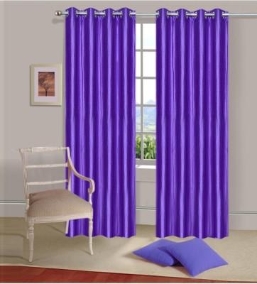 Fogg Polyester Purple Solid Tab Top Door Curtain