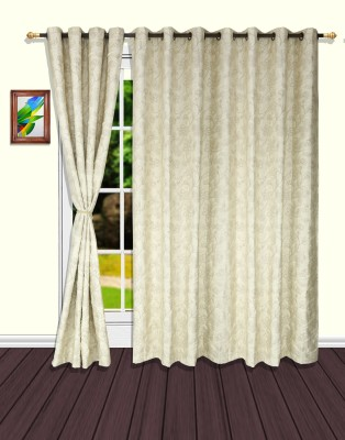 S9home by Seasons Polyester Beige Floral Eyelet Door Curtain