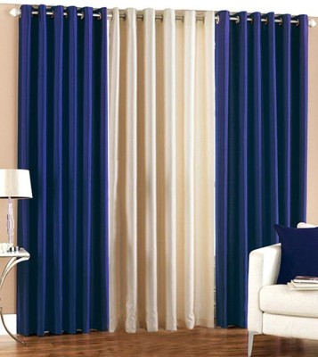 Jh Decore Polyester Multicolor Motif Eyelet Window Curtain