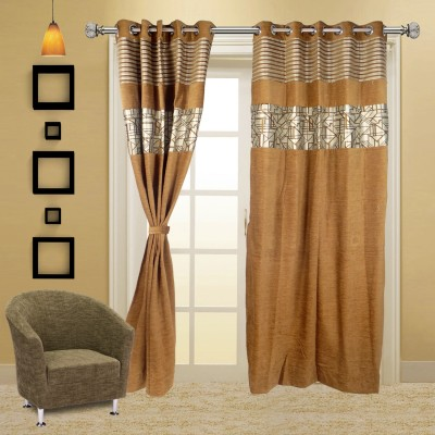 I Catch Blends Grey Floral Curtain Door Curtain