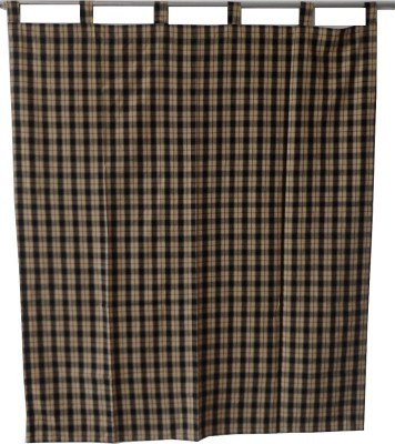Adt Saral Cotton Multicolor Checkered Eyelet Door Curtain
