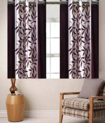 om trading Polyester Multicolor Printed Curtain Window & Door Curtain