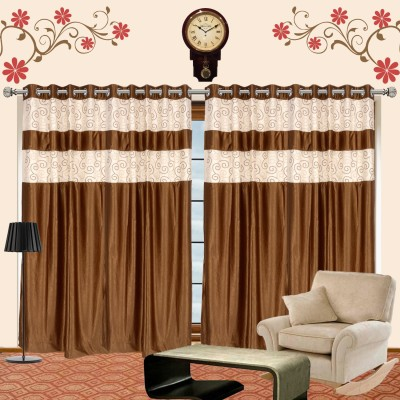 I Catch Blends Gold Geometric Curtain Long Door Curtain