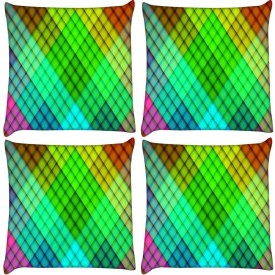 Snoogg Printed Cushions Cover(Pack of 4, 31 cm*31 cm, Multicolor)