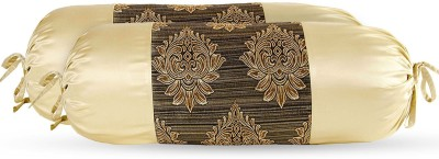 Zaffre,s Damask Bolsters Cover(Pack of 4, 38 cm*76 cm, Brown)