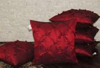 Zikrak Exim Geometric Cushions Cover(Pack of 5, 40 cm*40 cm, Maroon)